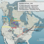 Canadian pipeline network