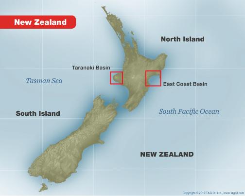 new zealand taranaki basin east coast basin