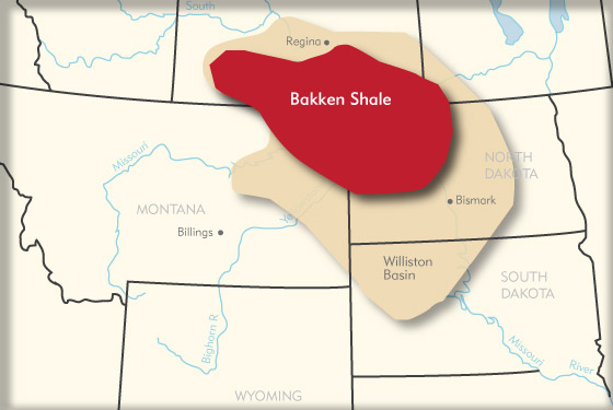 Bakken Shale Map Canada bakken shale map   Canadian Oil Stocks