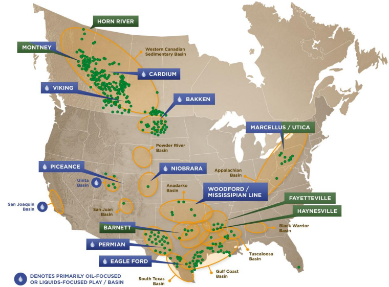 Precision Drilling is one of the most active drillers in North American (click to enlarge)
